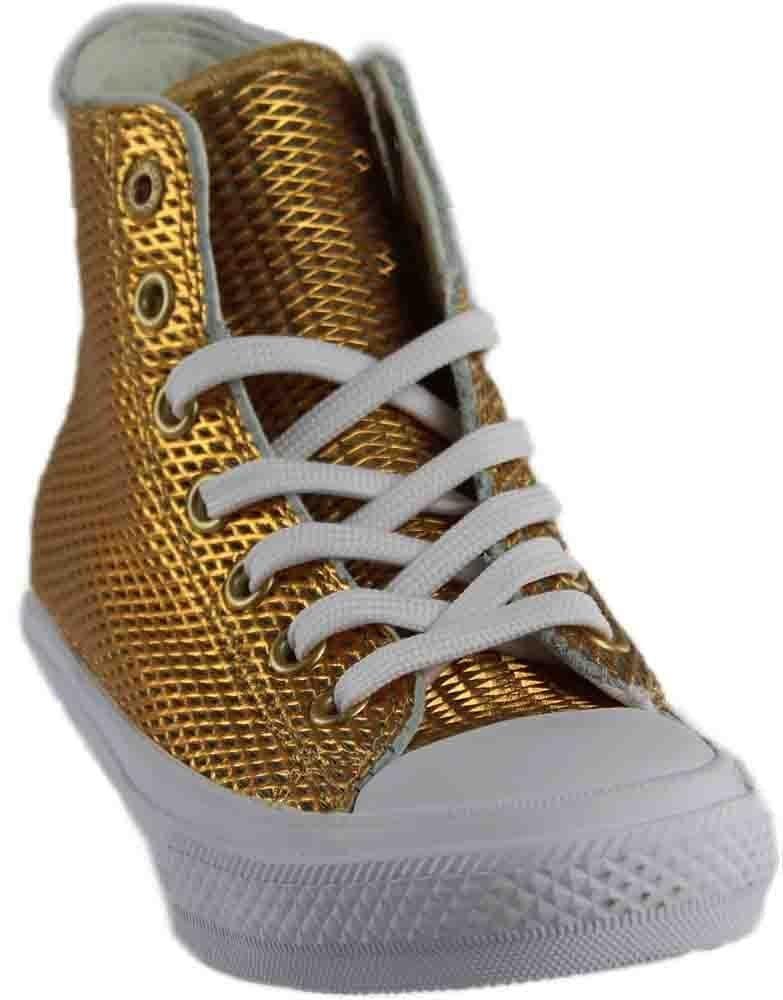Converse Chuck II Perforated Metallic High Top B01HP2D4P8 'Medium / 8.5 B(M) US|Gold/White/White