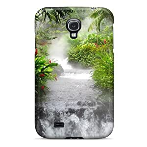 Awesome Waterfall In The Jungle Flip Case With Fashion Design For Galaxy S4