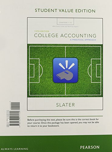 College Accounting Chapters 1-12 with Study Guide and Working Papers, Student Value Edition