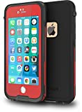CellEver iPhone 6 / 6s Case Waterproof Shockproof IP68 Certified SandProof Snowproof Full Body Protective Cover Fits Apple iPhone 6 and iPhone 6s (4.7') - Red/Black