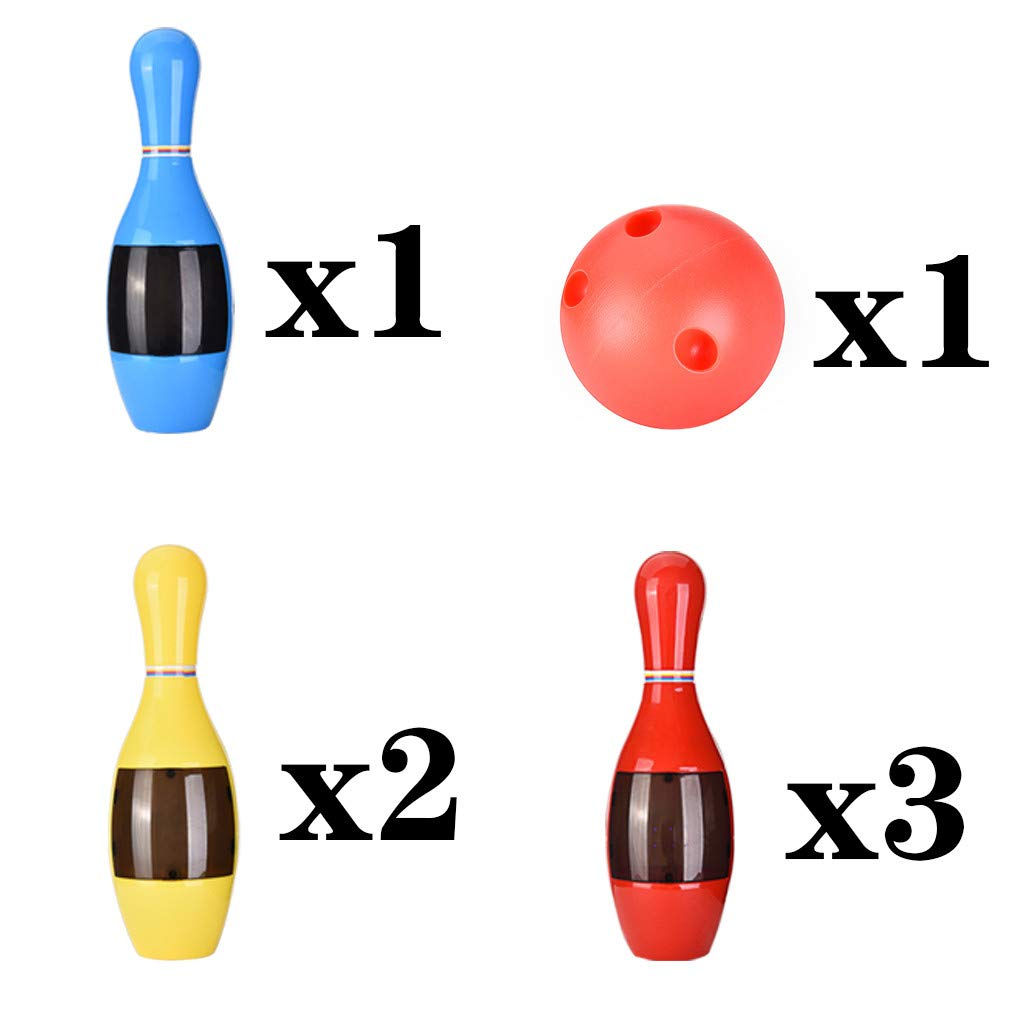 Coedfa Kids Sound and Light Bowling Play Set with 6 Pins /& 1 Ball BPA-Free Plastic Ball Toys Gifts Educational Toys Early Development Toy for Indoor Outdoor Sports for Kid Children Boys Girls