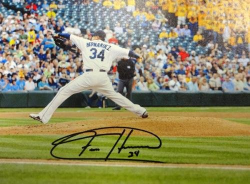 Felix Hernandez Autographed Signed Framed 20x30 Canvas Photo Mariners Mcs 94466 Autographed MLB Art