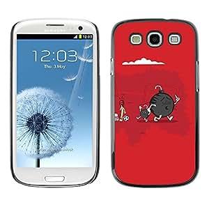 LASTONE PHONE CASE / Carcasa Funda Prima Delgada SLIM Casa Carcasa Funda Case Bandera Cover Armor Shell para Samsung Galaxy S3 I9300 / Funny Cute Bomb & Son