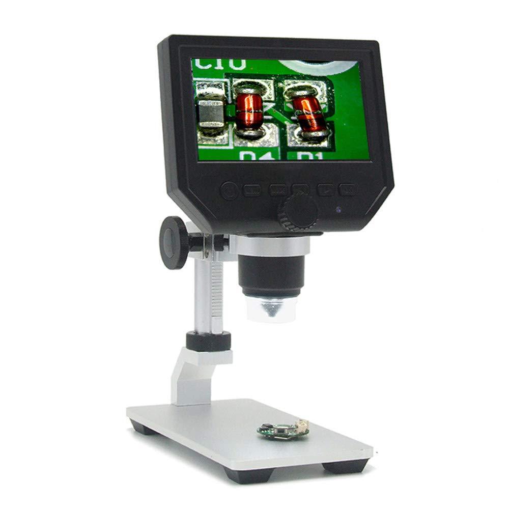 Microscopio Digitale 600X Da 4,3 Pollici Staffa In Alluminio Per Microscopio Elettronico Con Ingrandimento Del Display Ad Alta Definizione Con Batteria Al Litio Ricaricabile