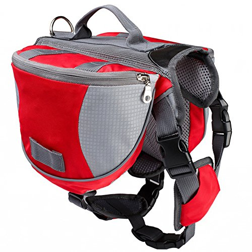 Guerbrilla Saddle Bag Backpack for Dog, Tripper Hound Bag Travel Hiking (Saddle Old English Bag)