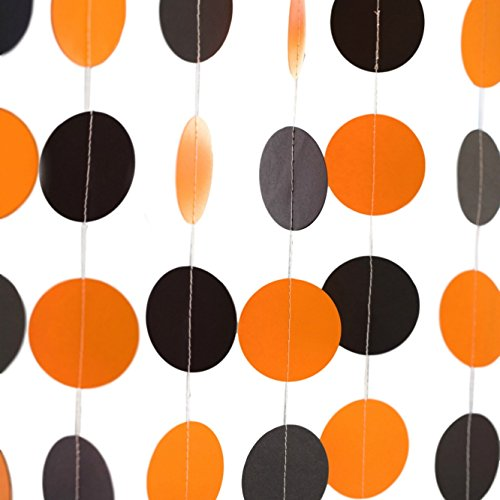 Bobee Black and Orange Halloween Party Decorations Paper (Black And Orange Party Decorations)