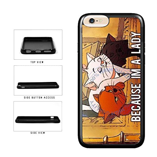 BleuReign(TM) Retro Because I'm A Lady TPU RUBBER SILICONE Phone Case Back Cover For Apple iPhone 8 and iPhone - Gaga Cat Lady