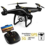 JJRC H68G GPS Return Home Drone Drone with 720P HD Camera Live Video 120° Wide-Angle 5G WiFi RC Drone Quadcopter with 980ft Control Distances, Follow Me, Altitude Hold Headless Mode Helicopter (Black)