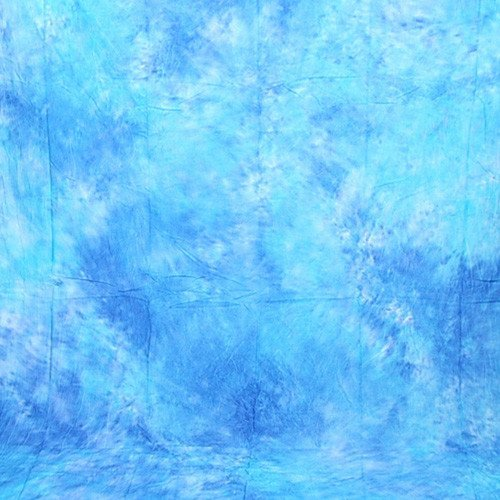 CowboyStudio Hand Painted 10 X 12 ft Sky Blue Muslin Photo Backdrop ()