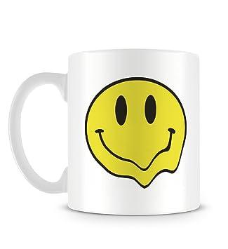 Grunge Melting Acid Smiley Emoji 90s Drug Trippy Design Mug