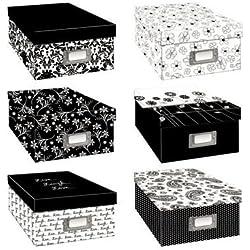 Pioneer Black & White Photo Storage Box-six Assorted Designs (2, Assorted Designs)