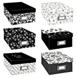 Pioneer Black & White Photo Storage Box-six Assorted Designs (2, Assorted Designs)