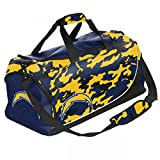 FOCO NFL San Diego Chargers Camouflage Core Duffle Bag, Blue