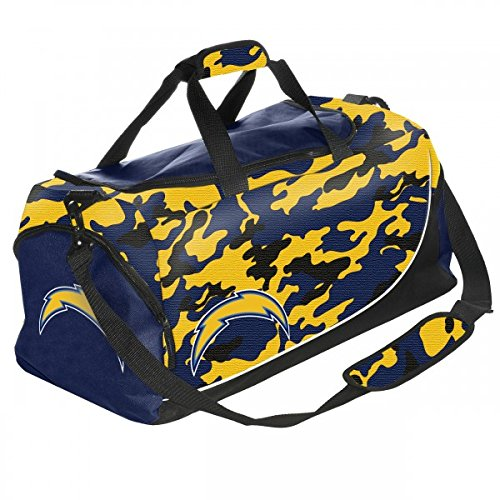 FOCO NFL San Diego Chargers Camouflage Core Duffle Bag, Blue by FOCO