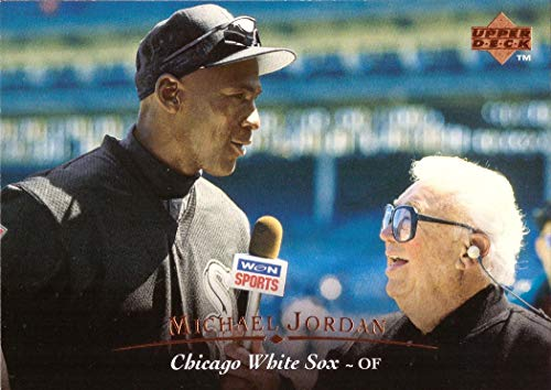 1995 Upper Deck #200 Michael Jordan White Sox Baseball Card w/Harry Caray ()