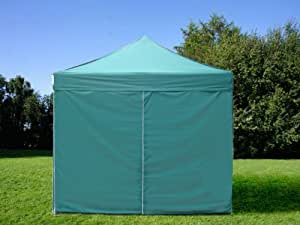 Pop Up Gazebo 3x3 m Canopy Instant Folding Marquee Awning Party tent With Sidewalls and Bag (Green)