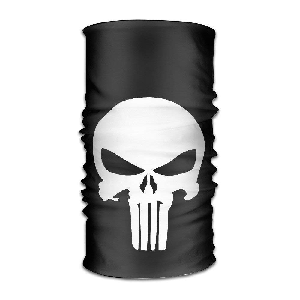 guanggs Atoggg The Punisher Logo Headbands//Bandana//Face Mask//Yoga Headband//Bandana Headband//Head Scarf//Head Wrap For Unisex