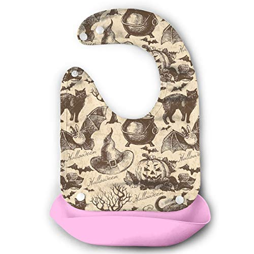 Happy Halloween Crazy Party Baby Bibs Waterproof For Babies And Toddlers Easily Wipes Clean Comfortable -