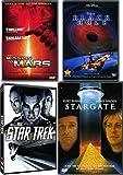 Galaxy Sci-Fi 4 Movie Pack Stargate / Disney Black Hole / Mission to Mars & Star Trek Movie Bundle J J Abrams Special quad Pack