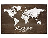Elegant Signs Adventure Nursery Rustic Decor World Map Adventure Awaits Review