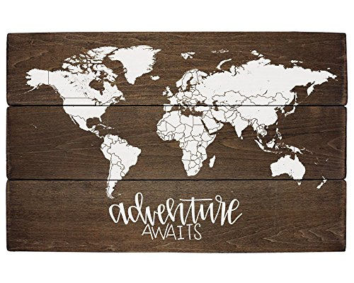 - Elegant Signs Adventure Nursery Rustic Decor World Map Adventure Awaits