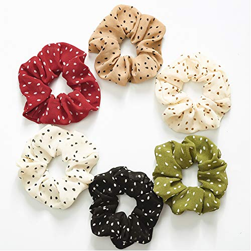 (Hair Scrunchies,Elastic Hair Bands for Girls Women,Cute Sweet Girl Elastic Hair Band,Hair Bow Chiffon Ponytail Holder,Hair Scrunchy Bobbles Soft Hair Bands Ties Headband)