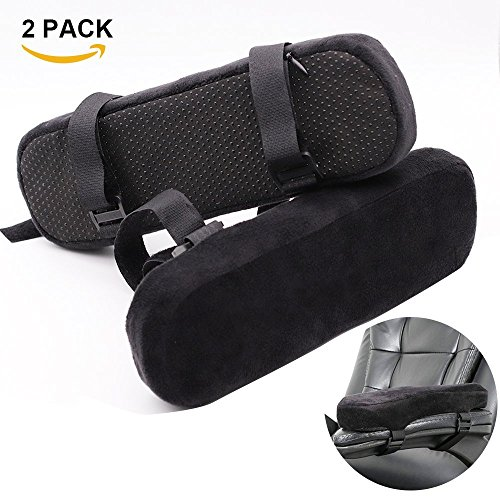 YIZRIO Momery Foam Office Chair Armrest Pad Covers for Elbows and Forearm Pressure Relief,Universal Chairs Arm Rest Covers for Home or Office and Wheel Chair armres (2 Piece Set) by YIZRIO