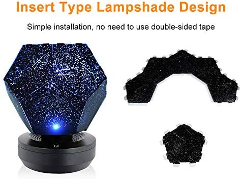 Lilideni Lámpara de Noche Baby Star Lamp Projector Cosmic Galaxy ...