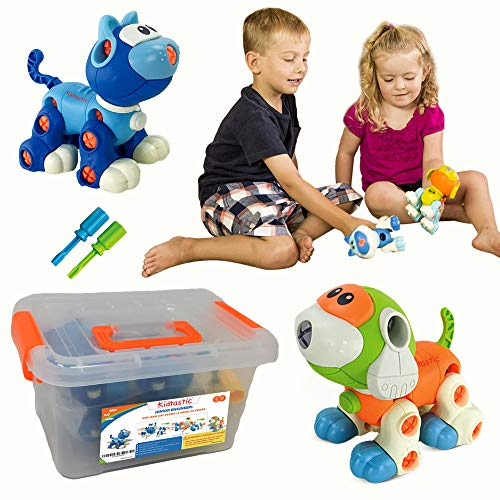Kidtastic Set of Take Apart Toys - Cat & Dog Models - STEM B
