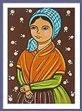 Saint Bernadette print St Bernadette print St Bernadette painting Saint Bernadette painting Saint picture Catholic art Catholic saint print Catholic painting Patron saint Christening gift