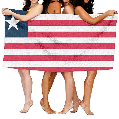 Liberia Sheet (Liberia Flag Bath Towel Bath Sheets, Beach Hand Turkish Towel, Quick Dry Washcloths Blanket Towel Set For Bathrooms Hotels / Motels Use (31.551.2inches))