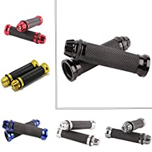"""Pair of Motorcycle 7/8"""" CNC Hand Grips Aluminum Rubber Gel Handlebar for Sport Bike Bicycle"""