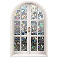 Bloss 3D No Glue Static Cling Glass Window Films, Self-Adhesive Glass Films Decorative Privacy Heat Control Anti UV for Home/Office,17.7-78.7 Inches from SunnyLife-US