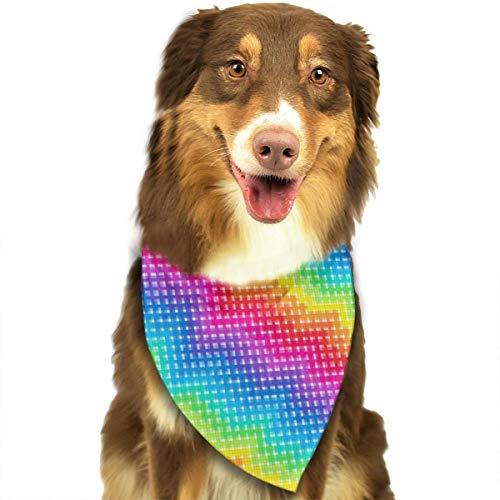 Pet Scarf Dog Bandana Bibs Triangle Head Scarfs Digital Rainbow Accessories for Cats Baby Puppy]()