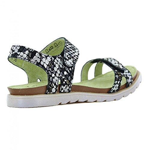 Laura Vita Dorry 10 SL3185-10 Womens Leather Sandals - Black Black bV6qX2xY
