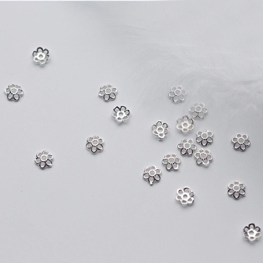 Anjing Juego de 50 separadores de cuentas de plata de ley 925 para pendientes collares bisuter/ía. pulseras