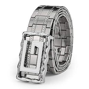 Belts for Men, Bengma Luxury Metal Belt with Slide Pin Buckle