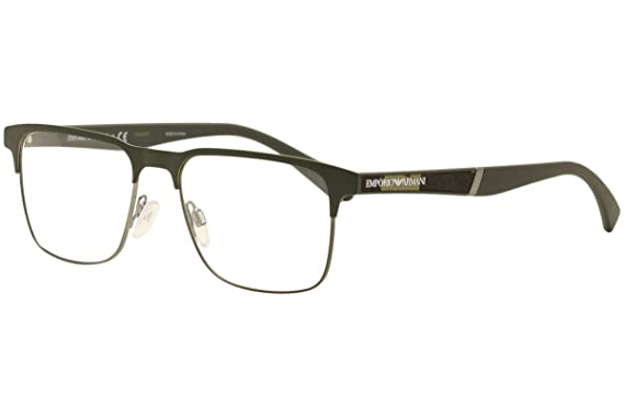 25ef2e3bba63 Image Unavailable. Image not available for. Color: Eyeglasses Emporio Armani  EA 1061 3173 MT MILITARY GREEN/MT GUNMET