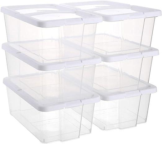 Z@SS Caja de Zapatos, Organizador de contenedores de Almacenamiento de Zapatos apilables: para Damas y Hombres, Cubierta fácil de Abrir y Cerrar,Clear: Amazon.es: Hogar