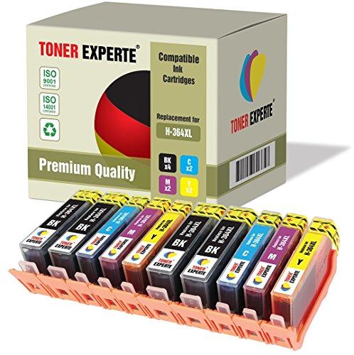 10 XL TONER EXPERTE® Druckerpatronen kompatibel für HP 364XL Photosmart 5510, 5511, 5512, 5514, 5515, 5520, 5522, 5524, 6510, 6512, 6515, 6520, 7515, B010a, B109a, B109d, B109f, B109n, B110a, B110c, B110e, Photosmart Plus B209a, B209c, B210a, B210c, B210d, Deskjet 3070A, 3520, 3522, 3524, Officejet 4610, 4620