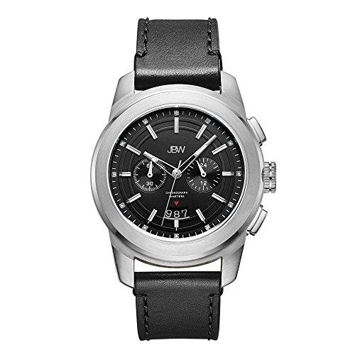 JBW Men's J6352A Mohawk 0.12 ctw Stainless Steel Diamond Watch