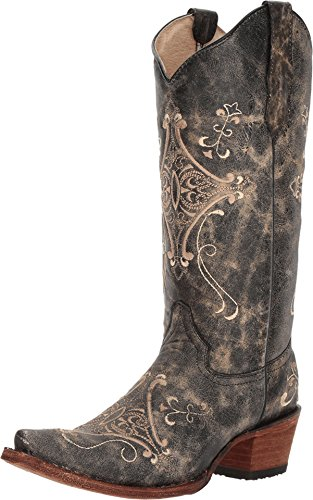 Circle G Women's Crackle Embroidered Western Boots ()
