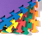36PC Kids Soft Cushioned Toddler Baby Foam Floor Mat Mutli Colored Play Puzzle Activity Educational Toy Gift Gym Crawl