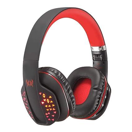 Mengshen Auriculares inalámbricos con Auriculares Plegables - con micrófono, cómodas Orejeras y LED Fresco -