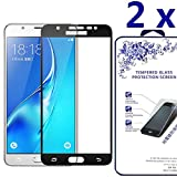 [2-Pack] [ Samsung Galaxy J5 2017 ] HD Tempered Glass Screen Protector with Full Coverage Crystal Clear Ballistic LCD Screen Cover Guard Premium HD Shield for Samsung Galaxy J5 2017