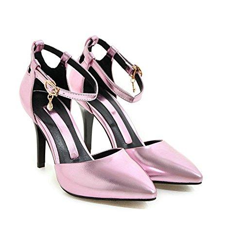 Kengät Aiweiyi Naisten Teräväkärkiset Sandaalit Korkokengät Strappy Vaaleanpunainen Nilkkalenkki twZv6q4nw