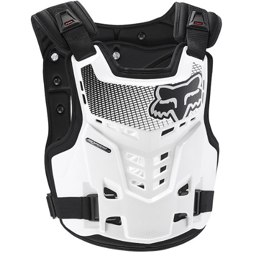 Fox Racing Proframe LC Men's Roost Deflector Off-Road/Dirt Bike Motorcycle Body Armor - White / Large/X-Large