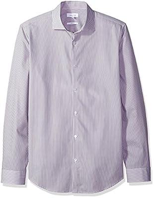 Calvin Klein Men's Infinite Cool Slim Fit Button Down Shirt Printed Stripe