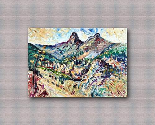 Pinturas al oleo de Arte Moderno Arte de Lienzo de Pared Pintura al oleo sobre lienzo de pared Decoracion del hogar ilustraciones abstractas pintadas a mano - PIZZO DI NOVARA olio su tela 50x70cm