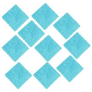 Baosity 10 PCS Baby Toddler Floor Puzzle Foam Mat Interlocking Tiles Carpet 30x30cm - Blue